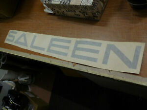 Ford Mustang Saleen Windshield Decal Sticker Silver Style