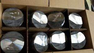 L2383f 030 Over Forged Pistons 402 Chevy On Coated Skirts U s a Made Set Of 8