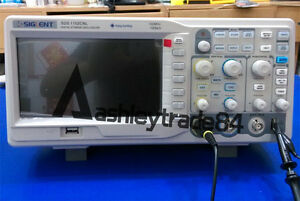 New Siglent Sds1102cnl 2ch 1 Ext Digital Oscilloscope 100mhz 1gsa s 40kpts