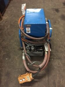 Huskie R 14ea d Double Acting Hydraulic Pump Pendent Control 3 4 Hp 10 000 Psi