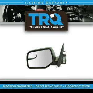 Exterior Power Heated W Blind Spot Glass Mirror Black Lh Side For Ford New