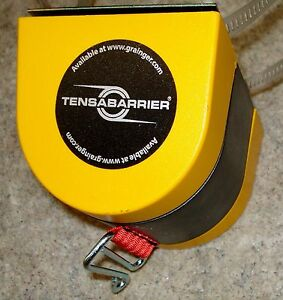 Industrial Barrier Tensabarrier Crowd Control Wall Mount With 15 Red Belt New