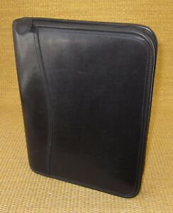 Classic desk 1 Rings Black Leather Day timer Zip Planner binder Franklin 99