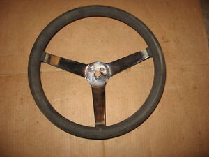Vintage 3 Spoke 14 3 4 Steering Wheel Mustang Camaro Cuda Rat Hot Rod Custom