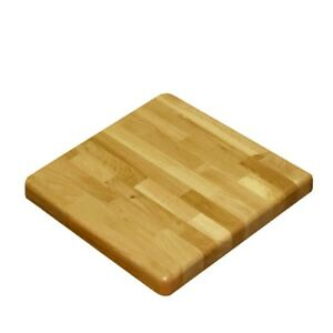 New Solid Oak Wood Table Top Restaurant Furniture Square Natural Color Bb3030