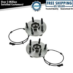 Wheel Hub Bearing Front Left Right Pair For Dodge Durango Chrysler Aspen