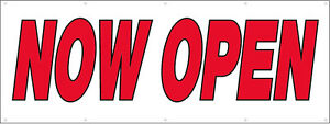 5x12 Ft Now Open Vinyl Banner Business Store Grand Opening Sign New Rw