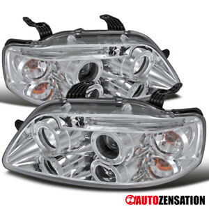 2004 2008 Chevy Aveo Aveo5 4dr Clear Dual Halo Rims Led Drl Projector Headlights
