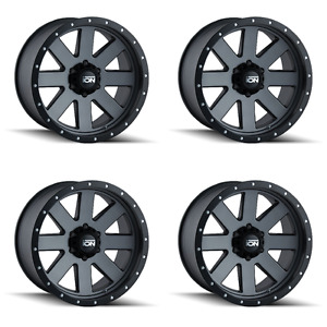 Set 4 18 Ion 134 Gunmetal Wheels 18x9 5x5 0mm Jeep Wrangler Chevy 5 Lug Rims
