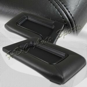 For 1999 2006 Chevy Silverado Black Leather Center Console Box Arm Rest Latch