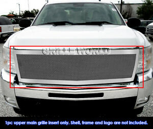 For 2007 2010 Chevy Silverado 2500 3500 Stainless Mesh Main Upper Grille
