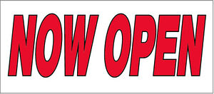 Now Open Vinyl Banner Store Sign Wb