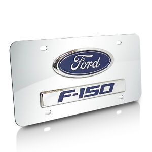 Ford F 150 3d Logo And Nameplate Chrome Steel License Plate