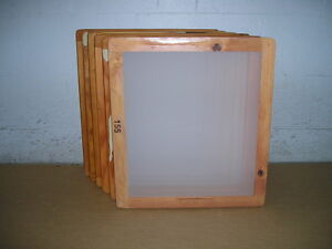 Screen Printing Frames box Of 6 18 X 20 Wood With 155 White Mesh
