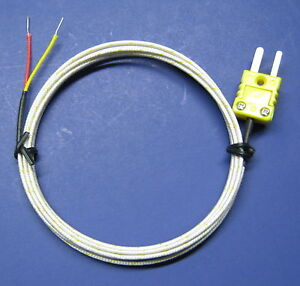 Connector Hook Up Cable High Temperature K type Ceramic Thermocouple Sensor Cr4