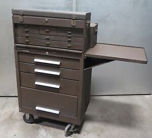 Kennedy 273 737916 Roller Tool Box Chest Cabinet Brown Multiple Drawers
