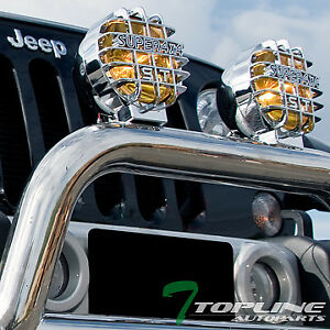 Universal 6 Round Yellow 4x4 Off Road Driving Fog Lights Fit Toyota Truck Suv