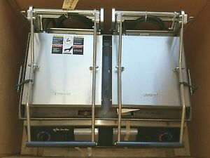 Star Gr28i 230v 28 Pro Max 2 sided smooth Sandwich Panini Grill New In Crate