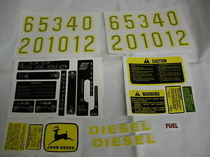 John Deere Decal Set 2510 2520 3010 3020 4000 4010 4020 4320 4520 4620 5010 5020