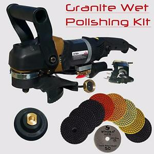 Stadea 5 Wet Stone Grinder Polisher With Granite Wet Polisher Polishing Pad Kit
