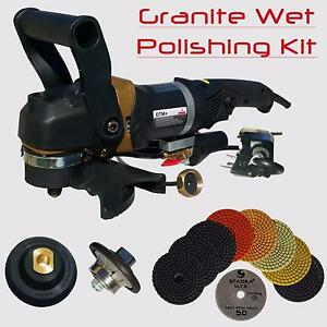 Stadea Granite Polishing Bullnose Tools Kit For Granite Countertop Demi Edge 3 8