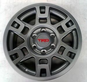 Toyota Fj Cruiser 2007 2014 Trd Pro Sema 17 Matte Gray Alloy Rims Set Oem New
