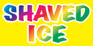 12x6 Decal Sticker Shaved Ice Food Truck Restaurant Store Sign Yb