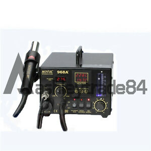 New Aoyue Int968a Hot Air Soldering Station 110v