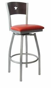 New Commercial Grey Star Swivel Metal Barstool Restaurant Furniture 280bss