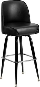 Good looking Commercial Black Swivel Bucket Seat Restaurant Barstool Furniture
