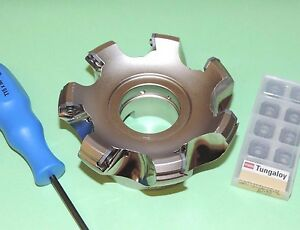 New Tungaloy 4 Indexable 45 Face Mill Cutter W Inserts taw13r400u0150a07