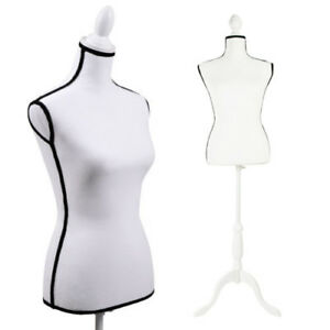 Female Mannequin Torso Retail Clothing Display W White Stand Standard Size
