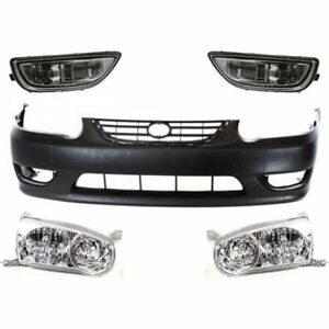 Front New Kit Auto Body Repair For Toyota Corolla 2001 2002