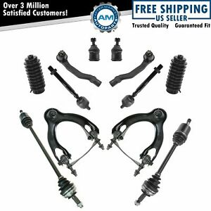 12 Piece Steering Suspension Kit Cv Axles Control Arms Ball Joints Tie Rods