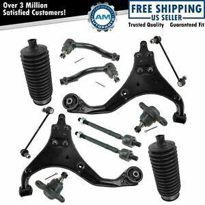 Tie Rod Boot Ball Joint Control Arm Sway Bar Link Steering Suspension Kit 12pc