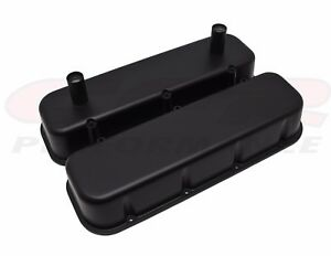 Racing Matte Black Aluminum Tall Valve Covers For 65 95 Chevy Bb 396 427 454 502