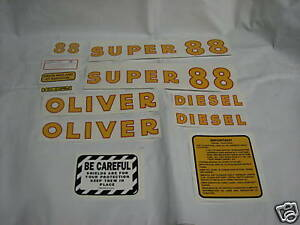 Oliver Super 88 Diesel Tractor Decal Set New Free Shipping