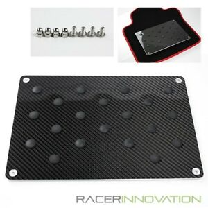 8 5 X 12 5 Black Real Carbon Fiber Floot Carpet Mat Pad Plate Pedal Foot Rest