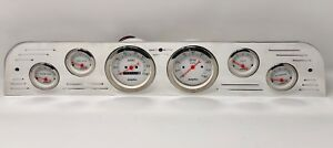 1967 1968 1969 1970 1971 1972 Ford Truck 6 Gauge Dash Cluster White