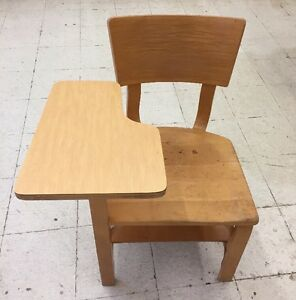 Vintage Thonet Mid Century Modern Bentwood Students Desk School Chair Aalto