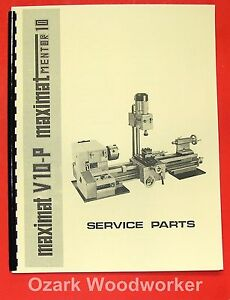 Emco Maximat V10 p Mentor 10 Metal Lathe Parts Manual 0300