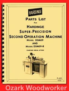 Hardinge Dsm 59 Dsm59 r Precision Lathe Part Manual 0332