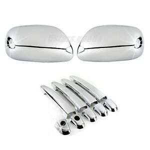 Accessories Chrome Side Mirror Door Handle Covers For Toyota Camry 2007 2011
