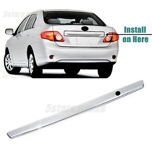 Accessory Chrome Rear Trunk Molding Cover Trim For 2009 2010 Toyota Corolla