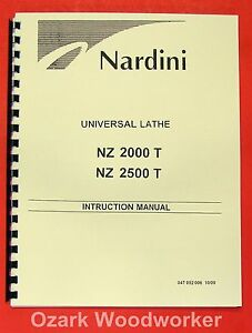 Nardini Nz 2000 t Nz 2500 t Lathe Op part Manual 0486