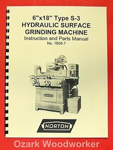 Norton 6 x18 Hydraulic Surface Grinder S 3 Manual 0493