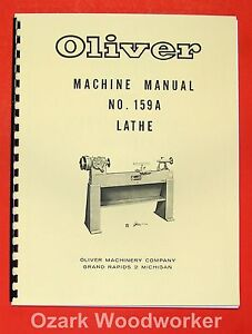 Oliver 1960 s 159 a 12 Wood Lathe Operator And Parts Manual 159a 0975