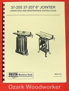 Delta milwaukee 6 Short Bed Jointer 37 205 37 207 Owner s Parts Manual 0209