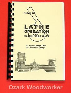 Atlas Craftsman Manual Of Lathe Operation Book For 12 Older Style 0036