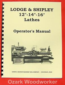 Lodge Shipley 12 14 16 Lathes Operator s Manual 0435